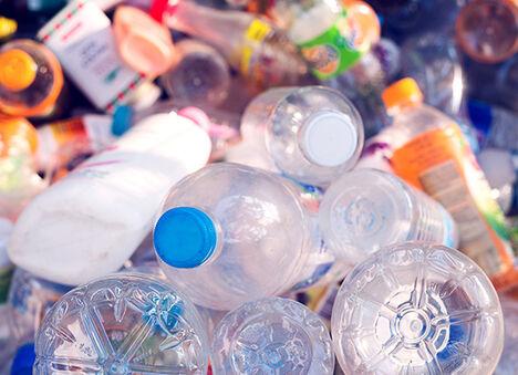 Plastic single-use bottles.