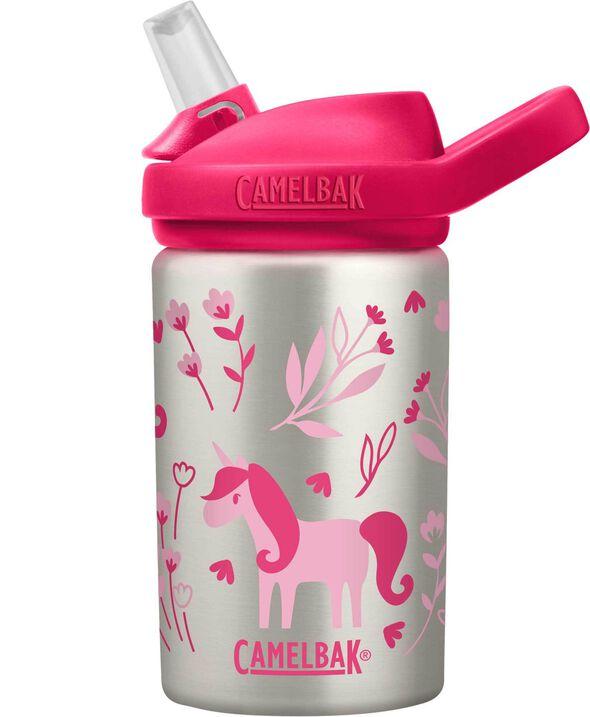 Fiesta Unicornio CamelBak Eddy+ Kids Water Bottle 14 oz Bid/ón BPA-Free Plastic with Straw Cap 14 Ounce Unisex Adulto