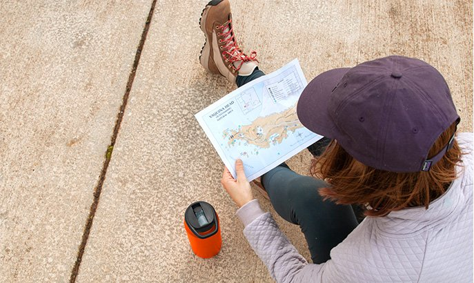 Reading a Trail Map