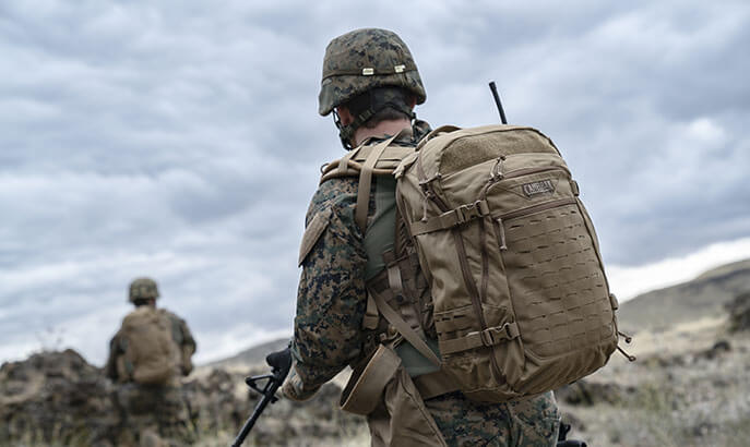 Soldier With Pack.