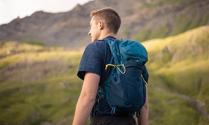 Hiking Man With A Pack