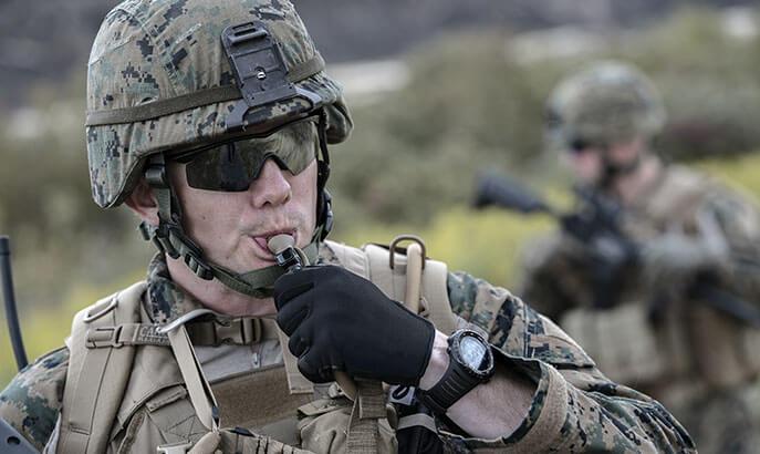 Soldier Drinking.