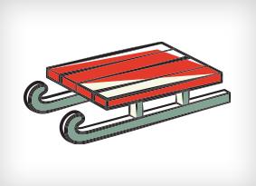 Illustration of a sled.